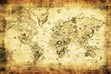 OFILA Vintage World Map Backdrop 9x6ft Navigation Expedition History Hero Business Interior Wallpaper Decoration Adult Travel Theme Background New World Industrial Development Digital Video Studio