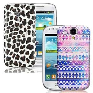 Juego de 2cubierta de la caja para Samsung Galaxy S3Mini i8190Retro & leopardo