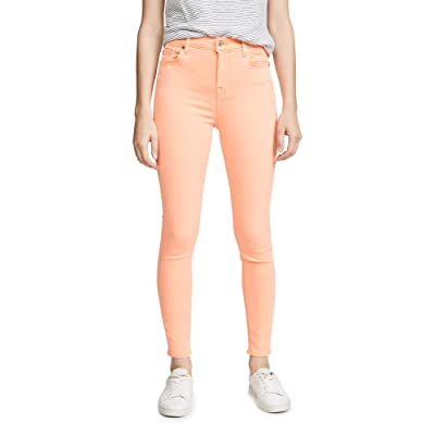 7 For All Mankind Women's The High Waisted Skinny Jeans: Clothing