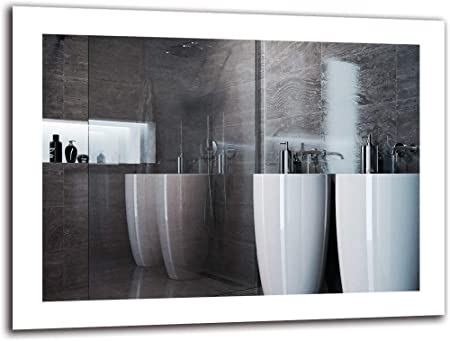 Espejo LED Premium - Dimensiones del Espejo 80x60 cm - Espejo de baño con iluminación LED - Espejo de