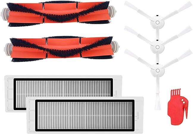 Kit de Accesorios para XIAOMI MI Roborock S5 S6 S50 E25 E20 E35 Repuestos de Robot Aspirador Piezas de Cepillo Lateral Piezas de Cepillo Lateral Filtro HEPA Cepillo Principal: Amazon.es: Hogar
