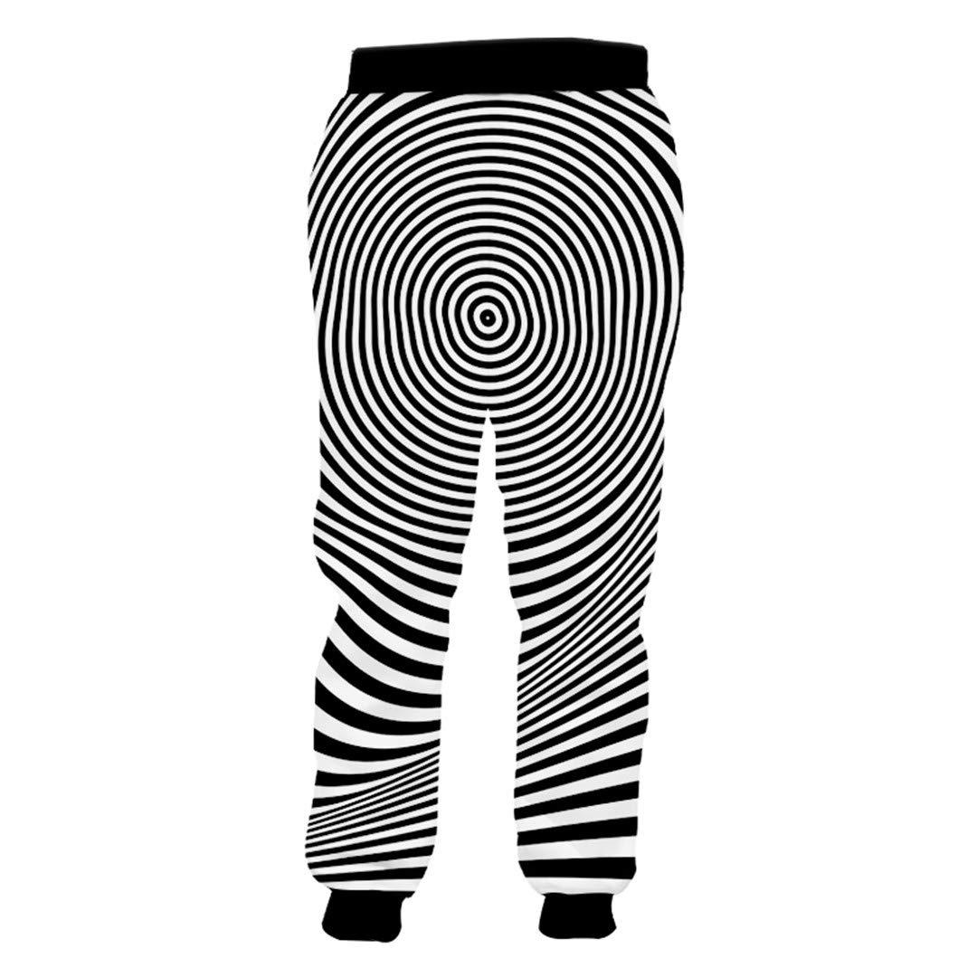 Creativa Negro Rayado Blanco pantalón Unisex Pareja Pantalones ...