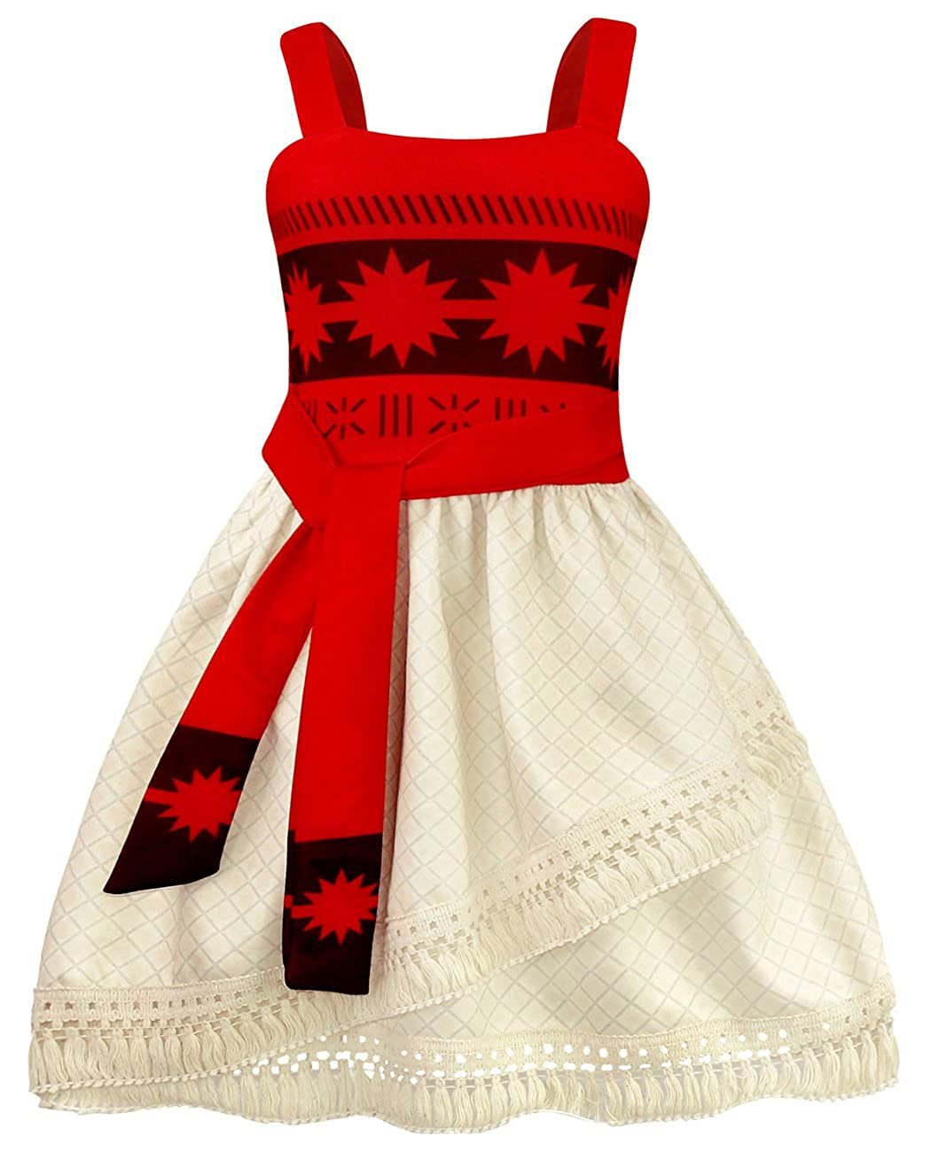AmzBarley Moana Dress Girls Fancy Party Cosplay Dress up Outfits Halloween Costume Age 1-12 Years