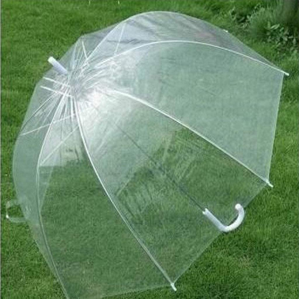 Su Qiao Fashion transparent dome shape umbrella outdoor windbreak umbrella princess weed decoration