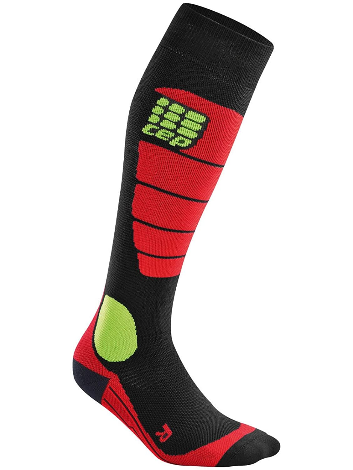 CEP Women's Progressive+ Snowboard Compression Socks - WP40 (black/red - II)