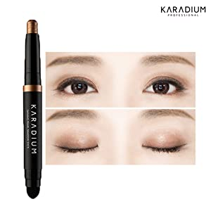 KARADIUM Shining Pearl Smudging Eye Shadow Stick 1.4g (#6 Chocolate Brown) - Waterproof Long Lasting Daily Eye Makeup Eye Shadow Stick, Creamy Texture, Easy to Draw, Hypoallergenic for Sensitive Eyes