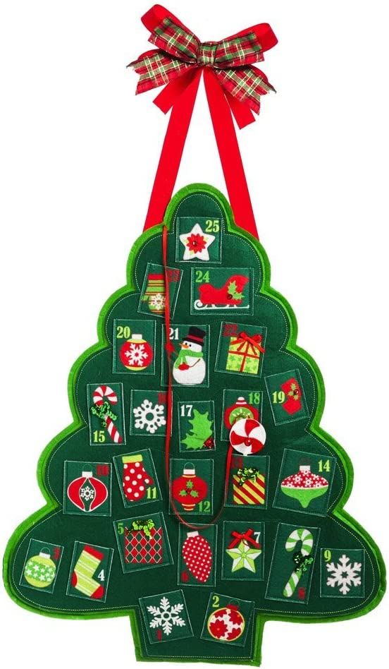 Evergreen Flag Door Decor Advent Tree