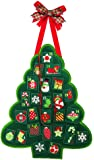 Evergreen Christmas Advent Calendar Outdoor Safe Felt Door Decor