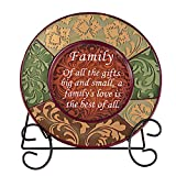 Collections Etc Decorative Inspirational Plate With Display Stand, Family