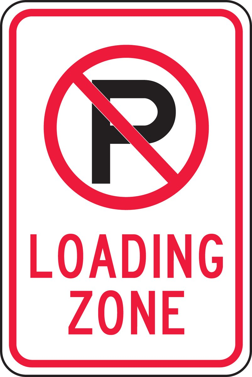 Accuform FRP143RA Engineer-Grade Reflective Aluminum Parking Sign, Legend''(NO PARKING) LOADING ZONE'', 18'' Length x 12'' Width x 0.080'' Thickness, Red/Black on White by ACCU-Form