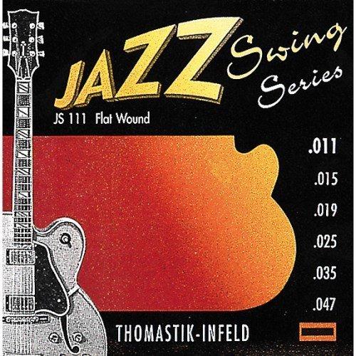 Thomastik-Infeld JS111 Jazz Guitar Swing Series 6 String Set - Pure Nickel Flat Wounds E, B, G, D, A, E Set