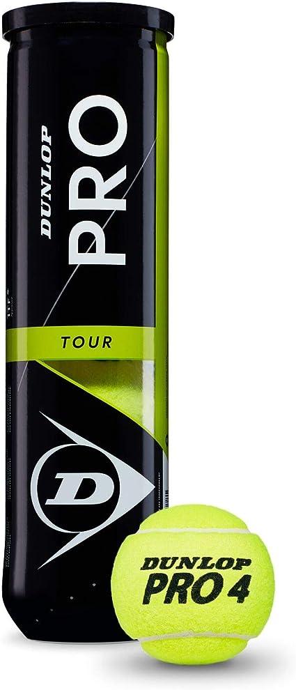 Dunlop Pro Tour Pelotas Tenis, Adultos Unisex, Amarillo, Bote 4 ...
