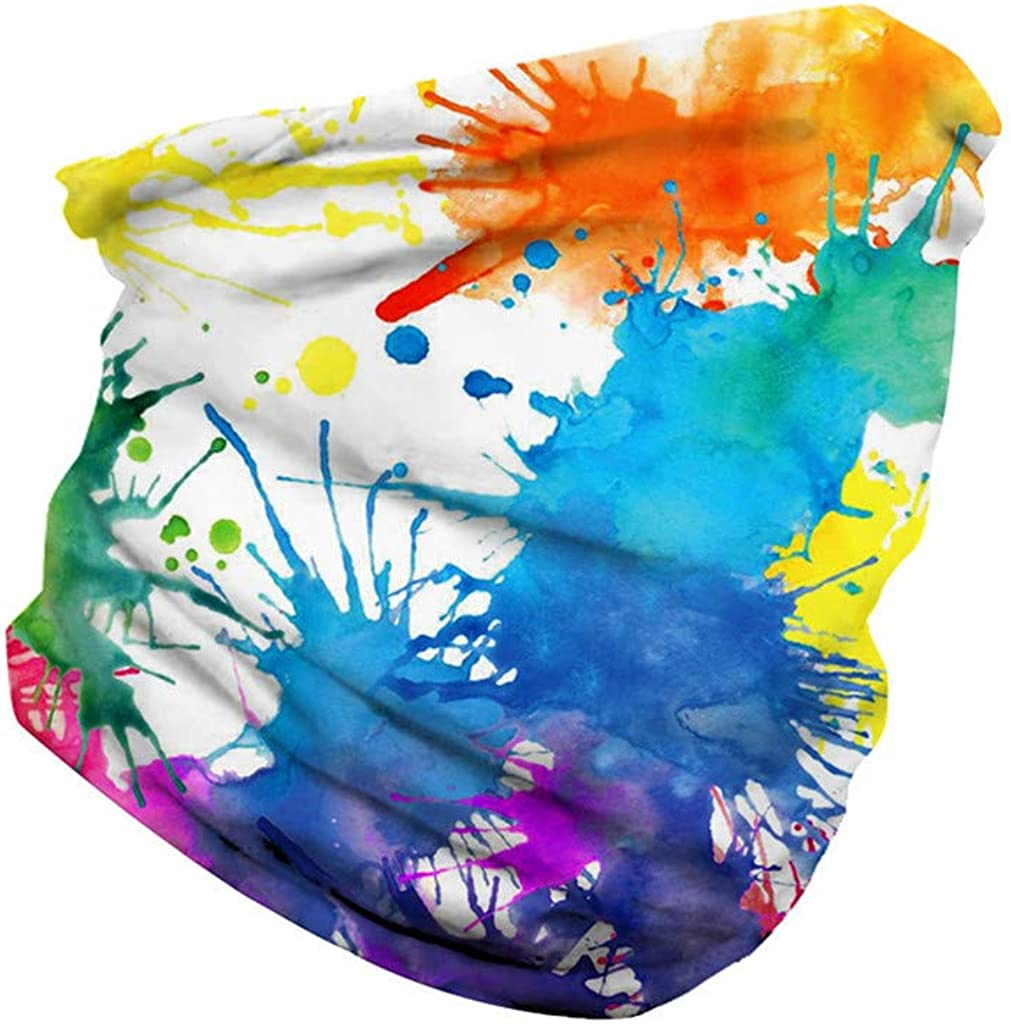 Unisex Seamless Bandana Face Mask Tube Half Gaiter Face Mask Bandanas for Dust,Wind Sun Protection,Outdoors