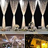 LED Curtain String Light with Remote,Wedding Lights,9.8ftX9.8ft 300LEDs Window Curtain for Outdoor and Indoor, RF Controller Safe Operation for Home,Garden,Wedding,Party,Photo Booth Indoor and Outdoor