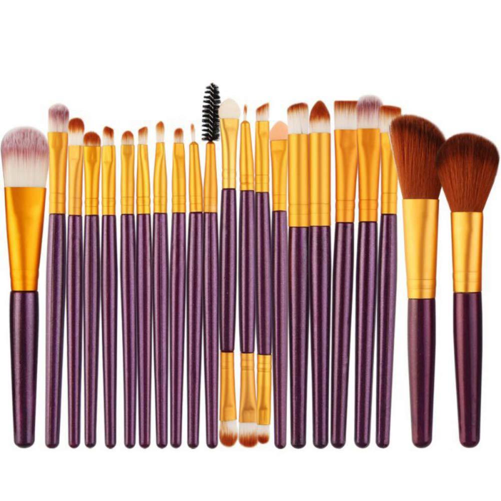 Luxsea Professional Makeup Brushes Eyebrow Eyeliner Lip Blusher Foundation Powder Cosmetic Maquiagem Tools 22Pcs
