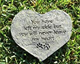 Heart Shape Dog Paw Print Memory Stone Pet Bereavement Gift You Have Left My Side But You Will Never Leave My Heart Pawprints Review