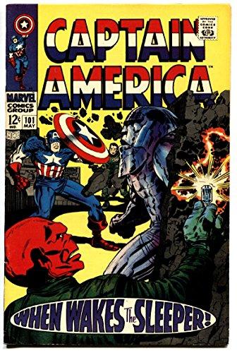 CAPTAIN AMERICA #101 comic book 1968-RED SKULL COVER-SLEEPER-KIRBY VF+