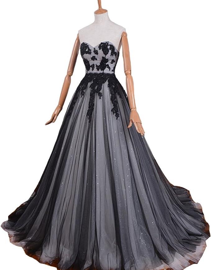 Used Black Sweetheart Corset Dress