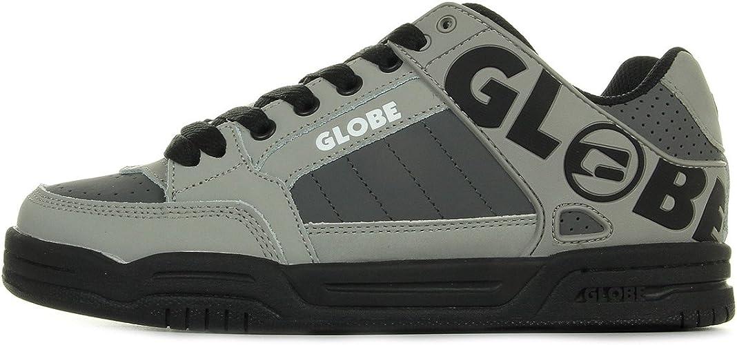 Chaussures Skate Globe garçon Tilt Kids taille Noir Noire Cuir Lacets