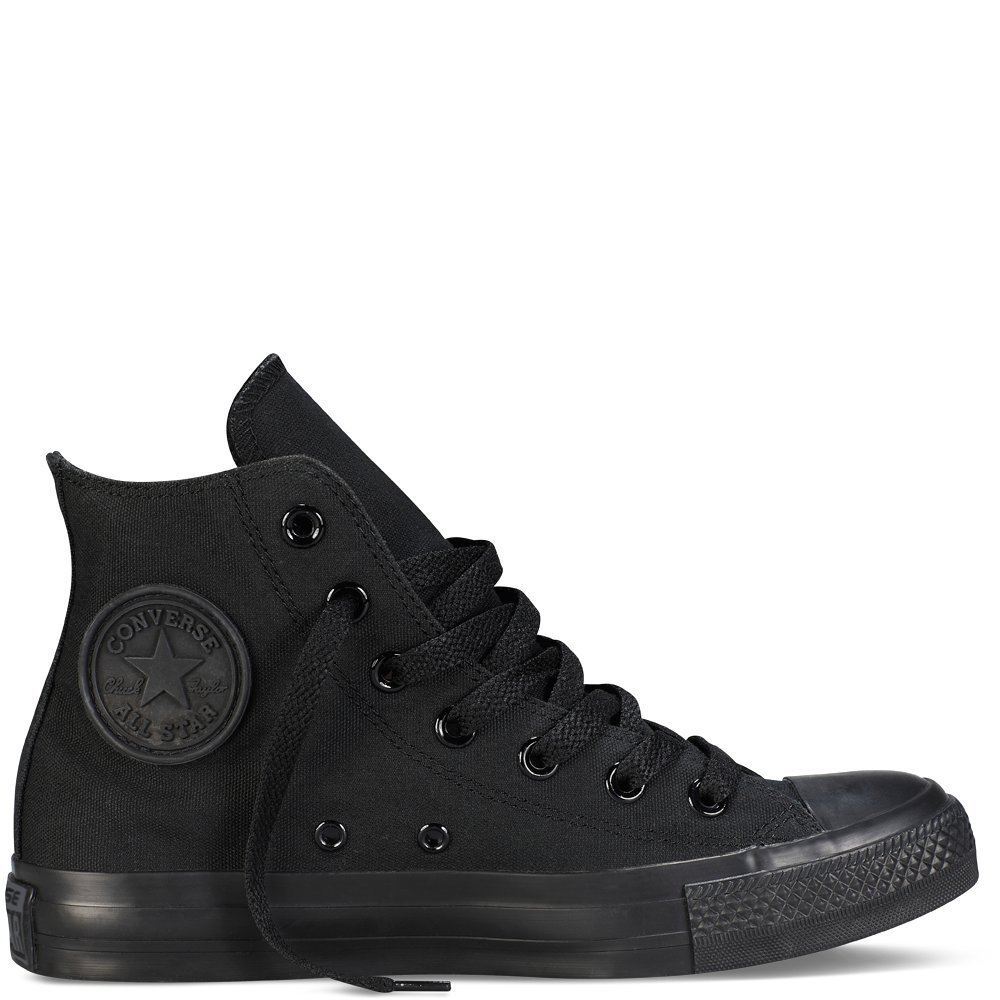 Converse Unisex Chuck Taylor All Star Hi Top (7 D(M) US, Black Monochrome)