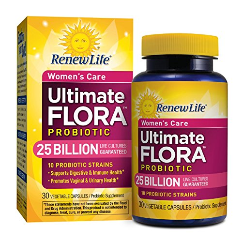 Renew Life - Ultimate Flora Probiotic Women's Care - 25 billion - probiotics for women - daily digestive and immune health supplement - 30 vegetable capsules