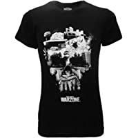 Fashion UK Camiseta Call of Duty Warzone Calavera Skull WZ Original Oficial Negra Adulto y Niño