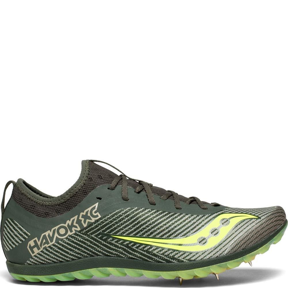 Saucony Mens Havok XC2 Track Shoe 11 M US Green//Citron