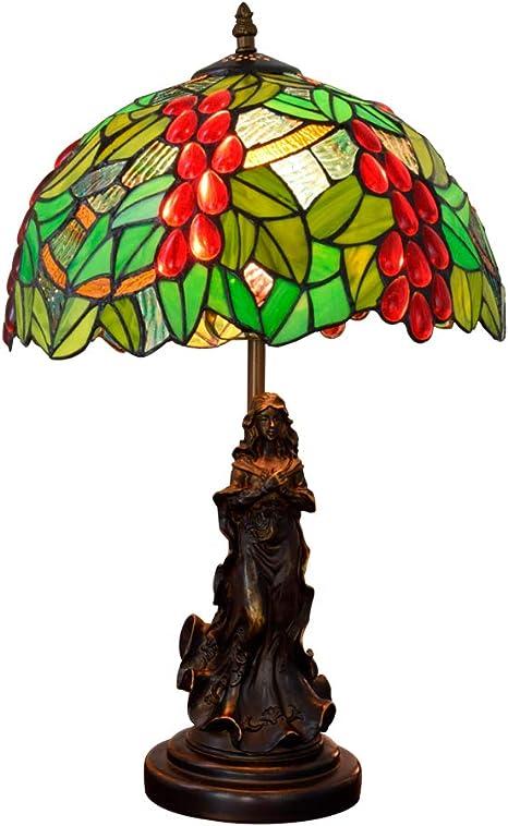 YM Verde Tiffany Style UVA Desk Lamp Pastorale da Tavolo