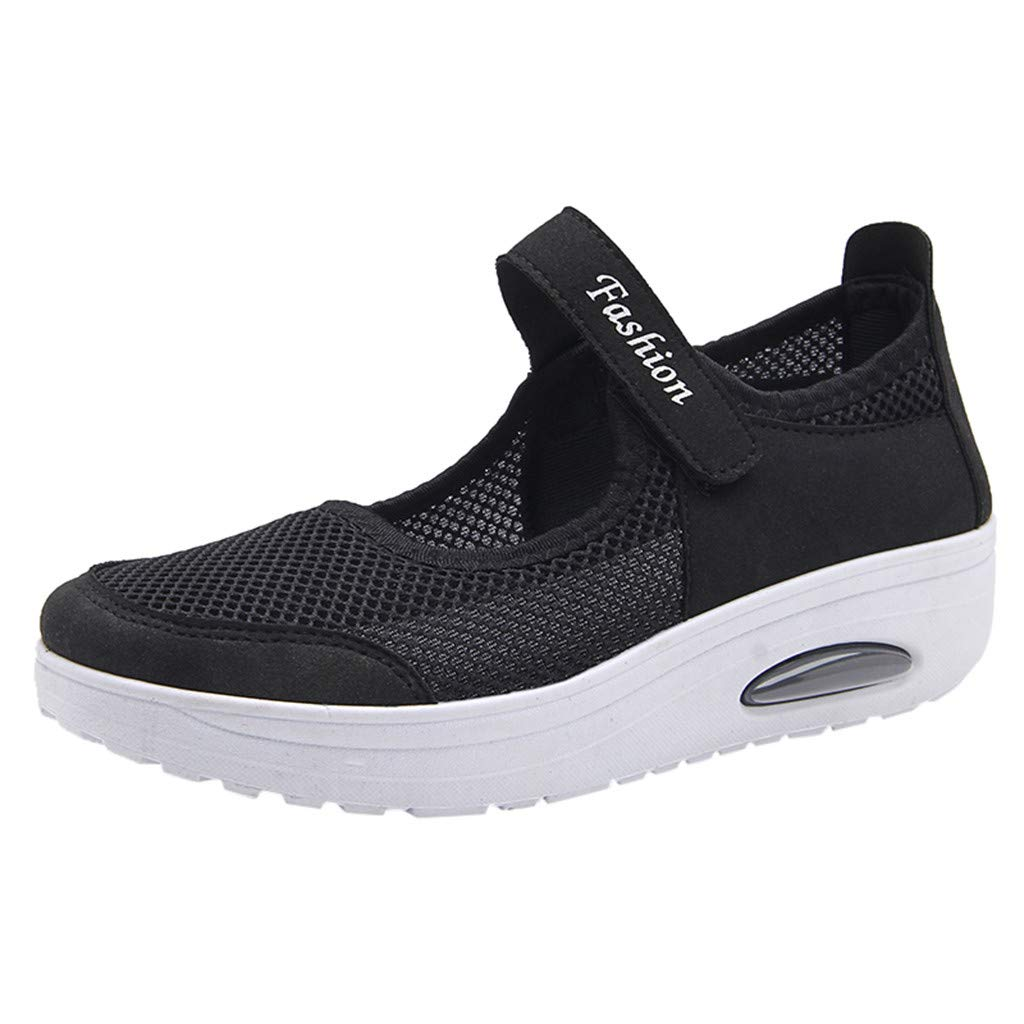 Sherostore ♡ Women's Mesh Walking Shoes Platform Sandals Lightweight Wedges Loafers Fitness Sneakers Mary Jane Shoes