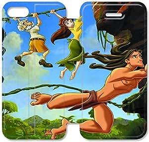 Tarzán H7U54Q8 iPhone 5 5S 5SE caso funda de cuero del tirón R1M47G3 único teléfono caso funda para los hombres