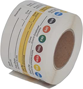 L LIKED Dissolvable Label Shelf Life for Food Rotation Use by Stickers 2 x 3 Inch Roll of 250