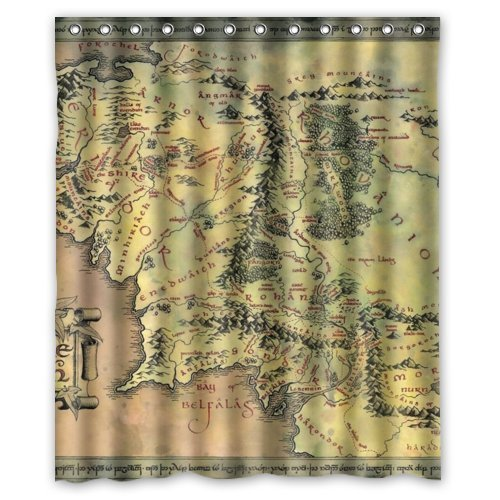 Lord of the Rings Middle Earth Map Shower Curtain – LOTR