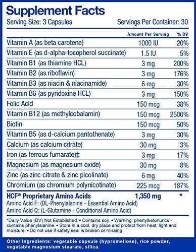 Brain Supplement for Memory, Focus, Attention, Mood. Increase Energy, Concentration, Clarity, Alertness. Improve Learning Abilities, Sleep Quality. Neuro Booster with Amino-Acids, Vitamins. 2 Bottles. by HCF (Image #1)