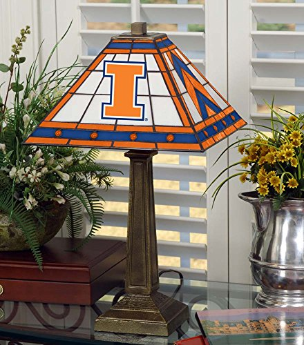 NCAA University of Illinois 23in Mission Lamp, One Size, Multicolor by Memory Company
