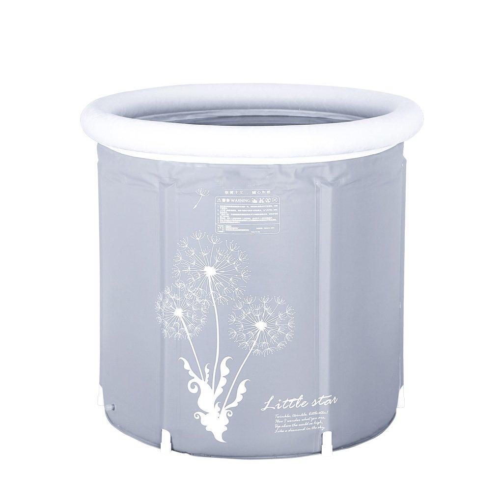 1 6570cm HZhiH-Air Baths Bath Barrel Adult Folding Bracket Tub Plastic Home Body Inflatable Bathtub Thicker Insulation (color    1, Size   6570cm)