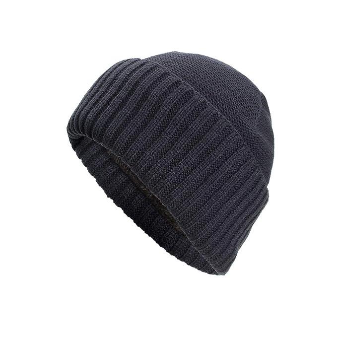 Longra Unisex Cappelli e Cappellini Tinta Unita Berretto Turbante Uomo e  Donna Berretto Invernale Caldo Cappello 783b56d8e047