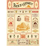 Cavallini & Co. Bees And Honey Decorative Decoupage Poster Wrapping Paper Sheet