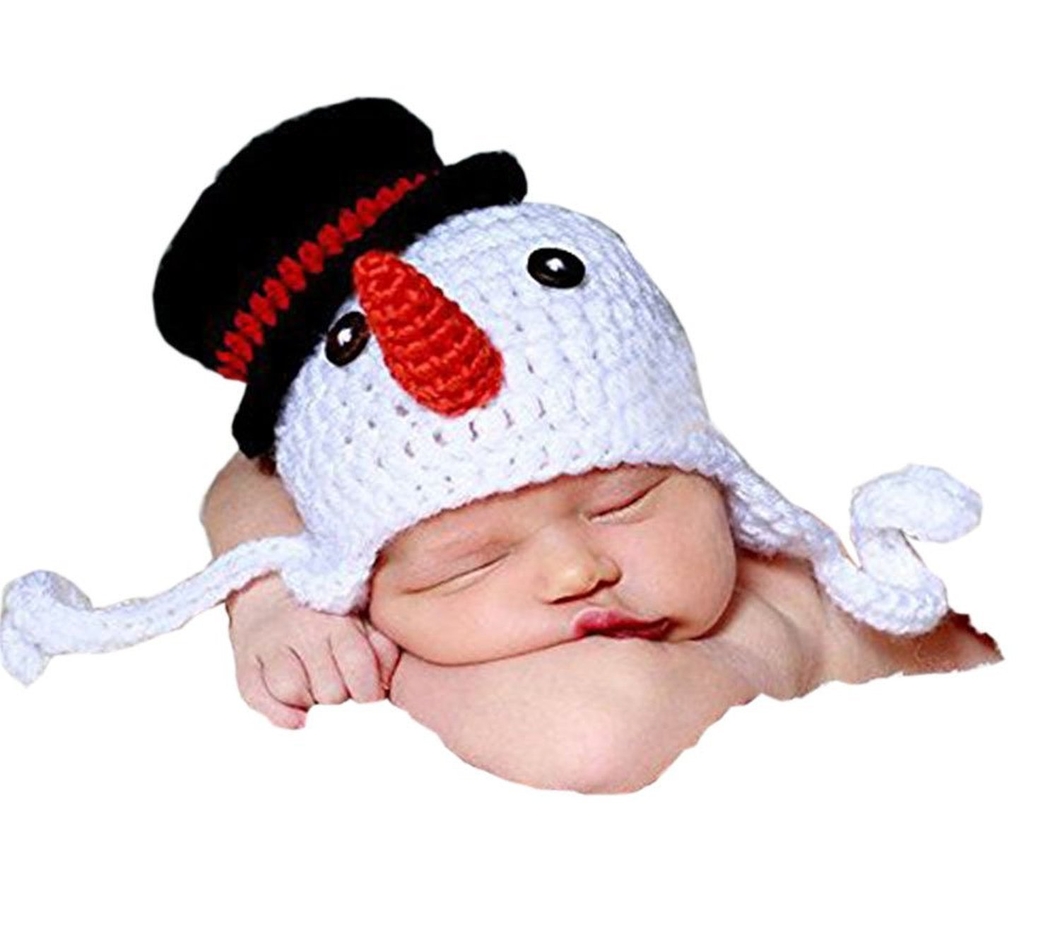 Amazon.com   YOIOY Baby Snowman Hat Crochet Knitted Costume Cap   Baby f90237a3aa8