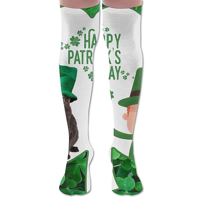 87c48027b1f Women St.Patrick s Day Knee High Socks Fashion Tie Dye Pregnancy Soccer  Socks
