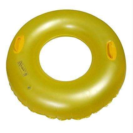 Anillo De Baño Adulto Anillo De Baño Doble Mango Amarillo Anillo De Flotador Rescate Agua