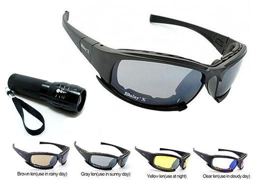 NOUVEAU Polarisé New Daisy X9 Militaire tactique Sport Army Eyewear lunettes de plein air 4 lentilles lunettes de soleil, pêche, escalade, tir et Walki