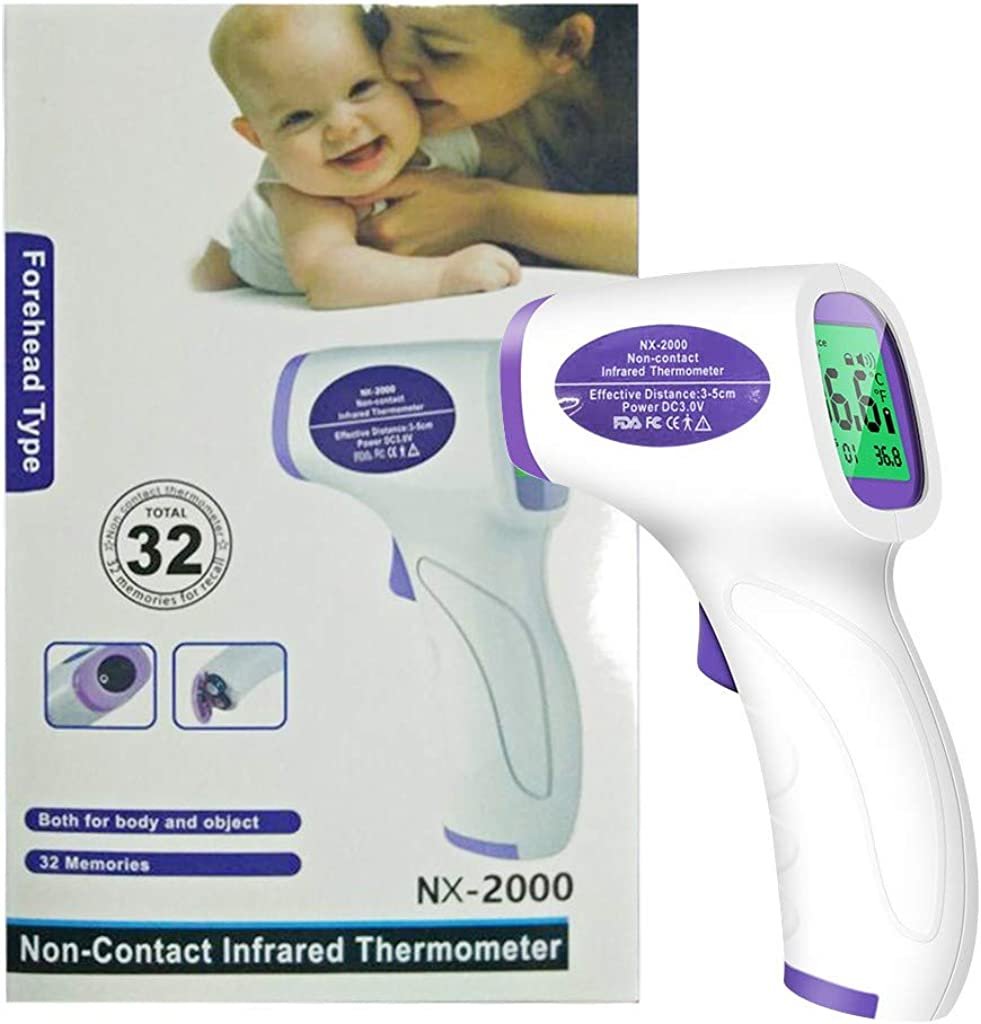 Non Contact No Touch Infrared Digital Instant Accurate Reading Forehead Temperature Machine for Adults Baby Kids