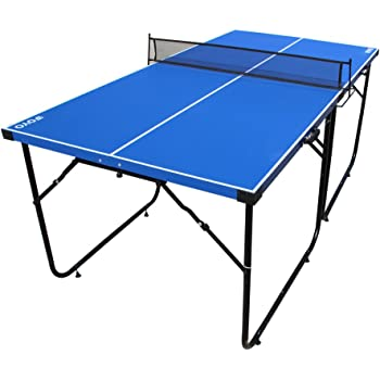 7f70472fdf4 JOOLA Midsize Compact Table Tennis Table Great for Small Spaces and  Apartments – Multi-Use Free Standing ...