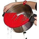 EKRON Strainer for Draining Hot Pot Bowl Pan Expandable Colander Fits for Any Pots Pans & Bowls, Random Colour