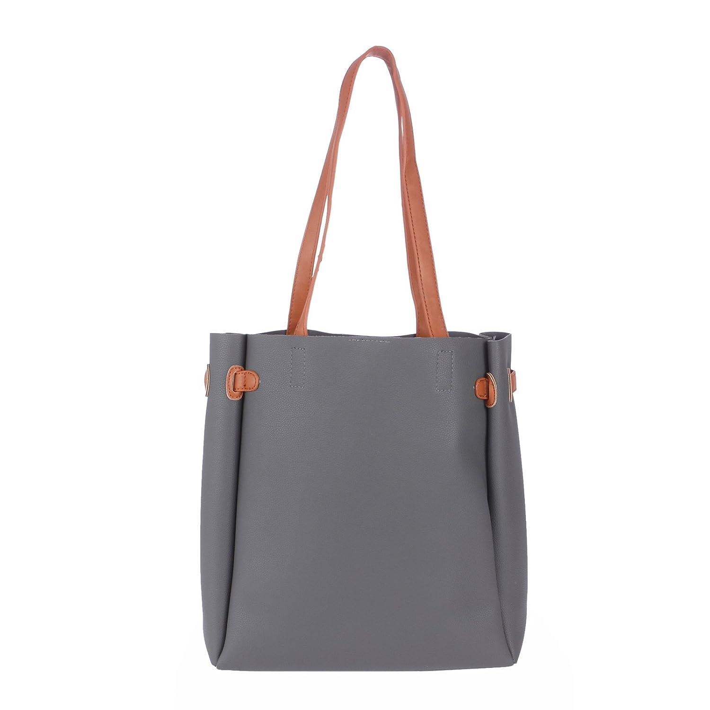4bc5b162e8 FUR JADEN Women s PU Grey Tote  Amazon.in  Shoes   Handbags