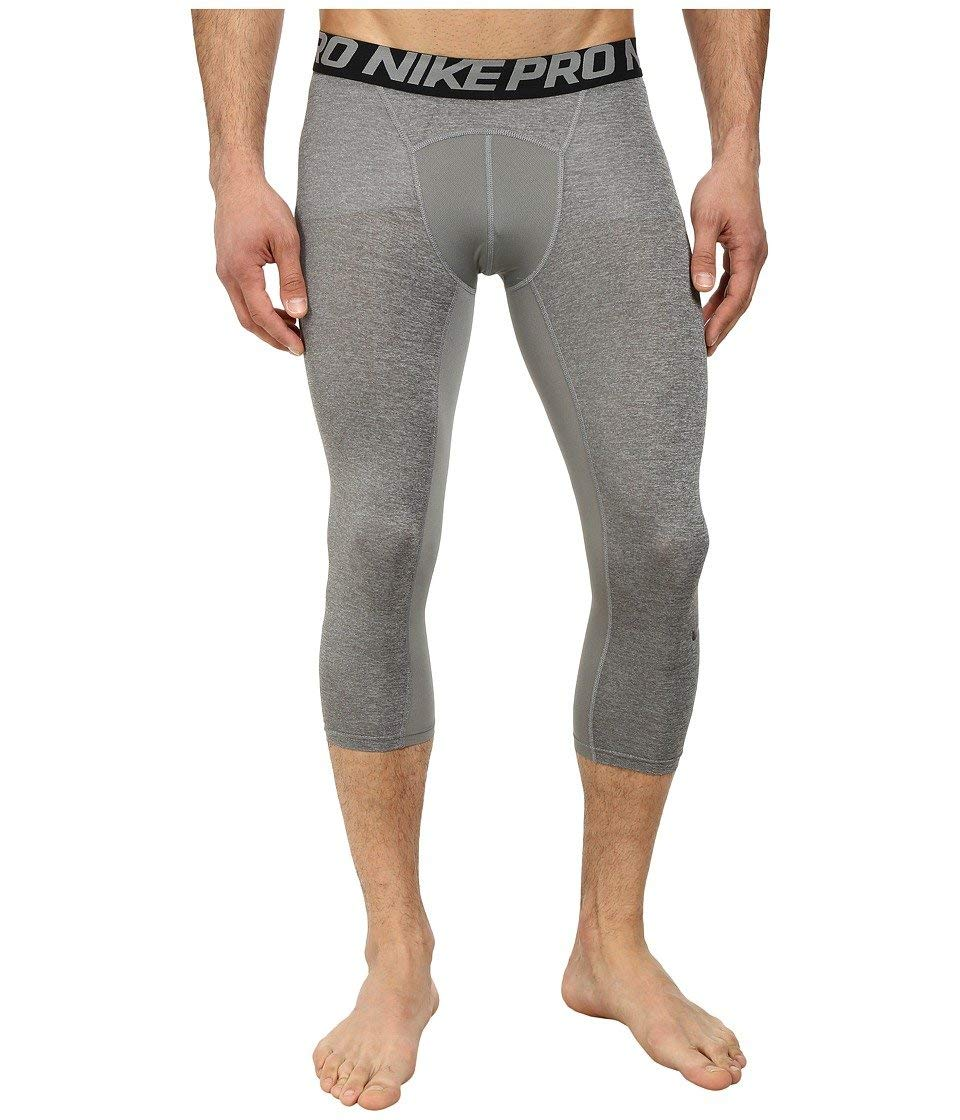 Nike Men's Pro 3/4 Tights (Small, Carbon Heather/Black)