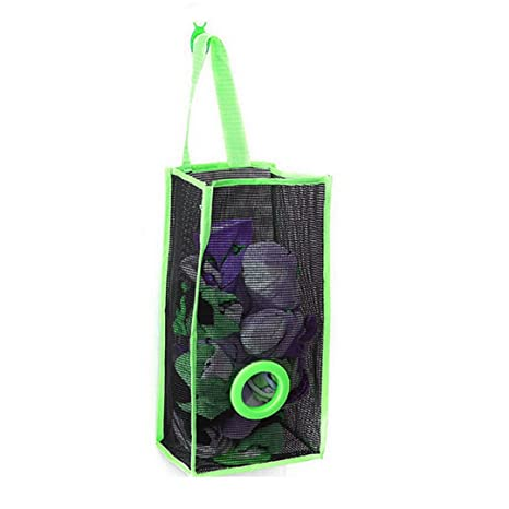Dispensador de bolsas AiSi, plegable y para colgar, de tela de malla de PVC