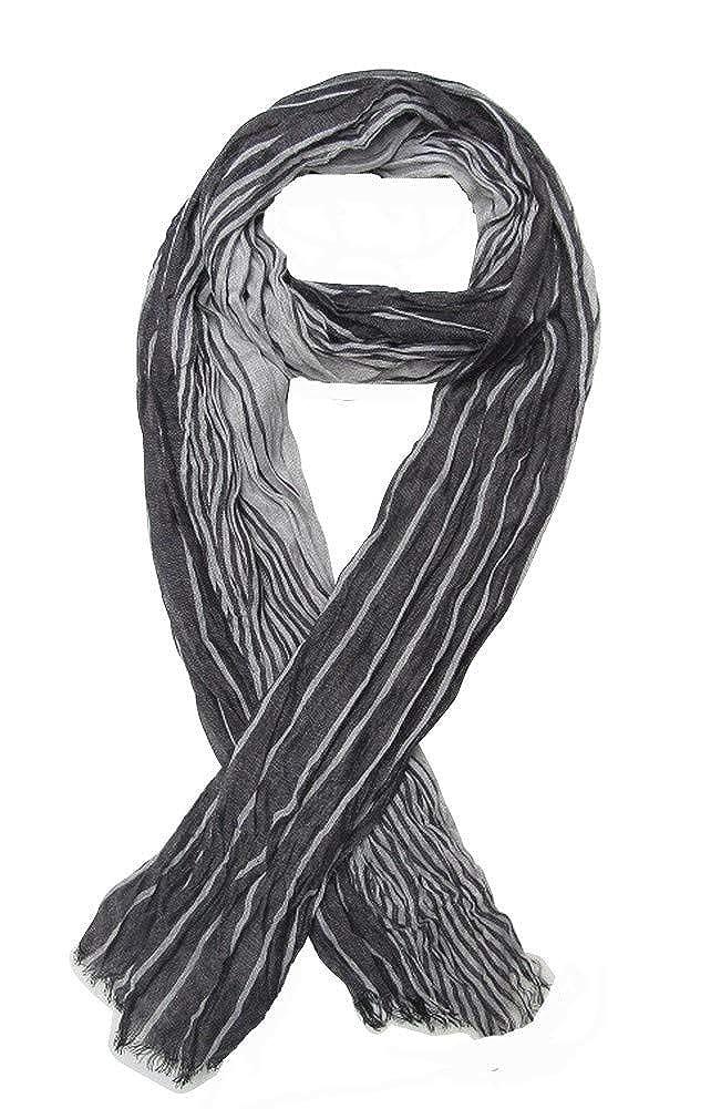 G/én/érique Foulard nero e grigio uomo 175x50 cm