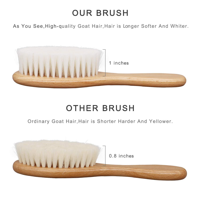Baby Hair Brush Baby Grooming Kit 5 Piece,Cradle Cap Brush,Baby Brush and Comb Set,Baby Shower Hair Brush,Registry for Baby Shower,Natural Soft Brush Baby,Silicone Brush,Natural Soft Bristles