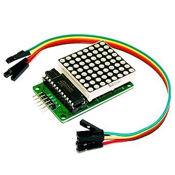 MAX7219 Microcontroller 4 In 1 a 5 Pin Visualizza una Matrice per Arduino